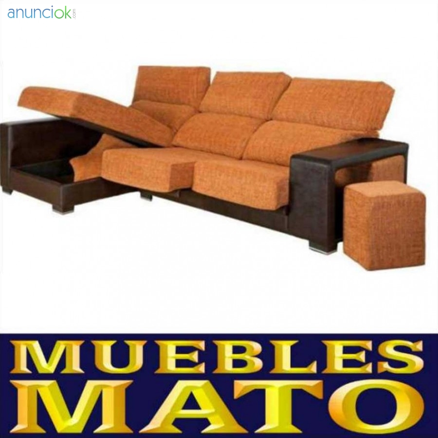 Sof s chaise longue 3 plazas tapizado en barcelona for Sofas valencia pinto