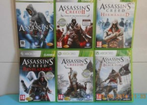 Vendo los juegos Assassins Creed,